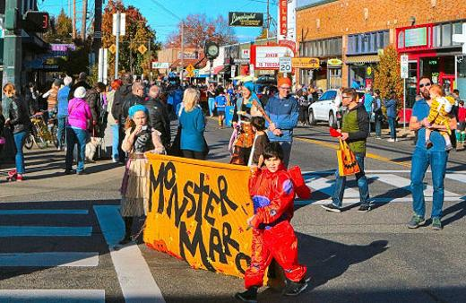 Moreland Monster March, SWBA, Llewellyn Elementary School, parade, Westmorland, Portland, Oregon