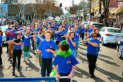 St Agatha, St Patrick, Sellwood, parade, celebration, Sellwood Middle School, southeast, Portland, Oregon